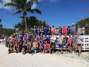 Look at all the Key West Triathletes. We all look the same speed standing there.
